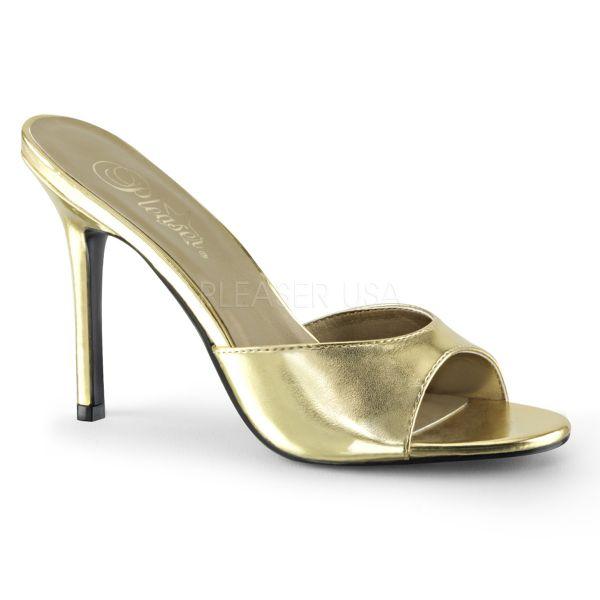 CLASSIQUE-01 High-Heel Pantolette gold PU